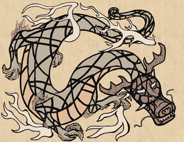 Skribble: Asian Dragon by EvolifanNo1