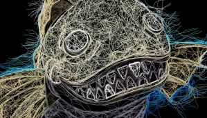 Monster Ikan2 by embroiderart
