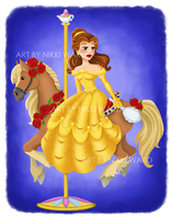 Belle Carousel by NikkiWardArt