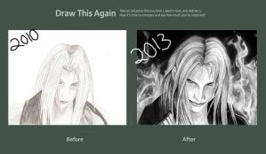 Draw This Again! Sephiroth by VIIIFireLordAxel