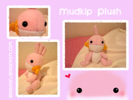 Mudkip Plush by KelliBean