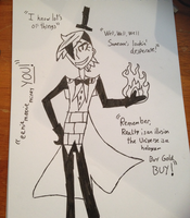 Human Bill Cipher - Inked by lilbluedemon