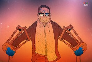Nick Frost / Andy Knight / The Worlds End by reubendangoor