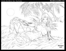witchblade on the beach by TonyKordos