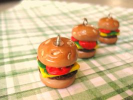 Mini Hamburger Charm I by sunnyxshine