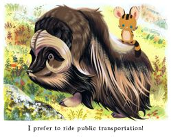 Tigerbuttah and the Musk Ox by Pocketowl