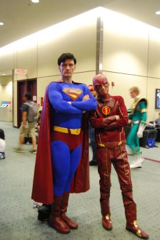 Superman and Flash by JMCosplay