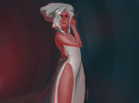 1red and white fashion by mehidart