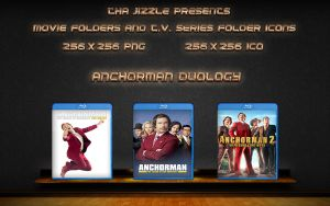 Anchorman Duology Movie Folder Icons by ThaJizzle