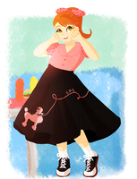 Poodle Skirt by MoraSanders