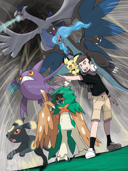 Commission - Tyler's Pokemon Team by Tails19950