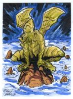 Cthulhu sketch card commission by mdavidct