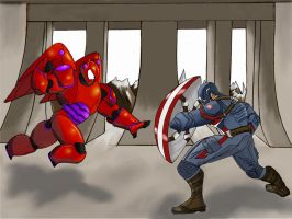 Baymax vs Cap by Gilliland35