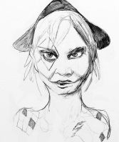 Harley Black and White doodle by Hellion-Kat