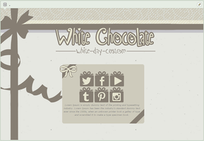 White Chocolate | simple custom graphic by BluAjisai