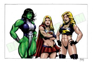 SHULKIE, BABE OF STEEL AND MS.MARVEL by Dwid