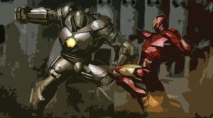 Ironman vs WarMachine by aglover0007