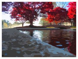 Reflections of a Maple Tree by GeneAut