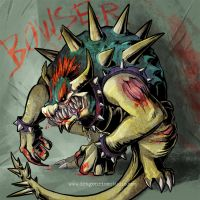 Zombie Bowser by DragonSpirit469