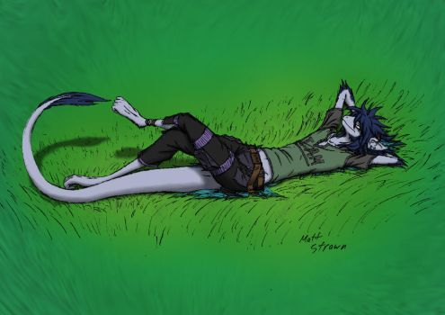 Lying in the Grass - Colored by Faullyn