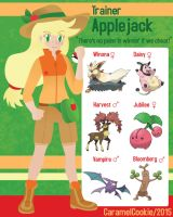 My Little Pokemon Trainer - Applejack by CaramelCookie