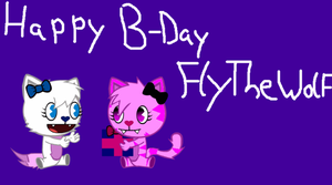 Happy B-Day FlyTheWolf by MisteryHTF