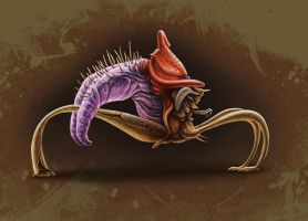 Trihopper Alien by MichaelBeaudry