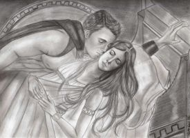 Ares and Phaedra in Mt Olympus by Allie06