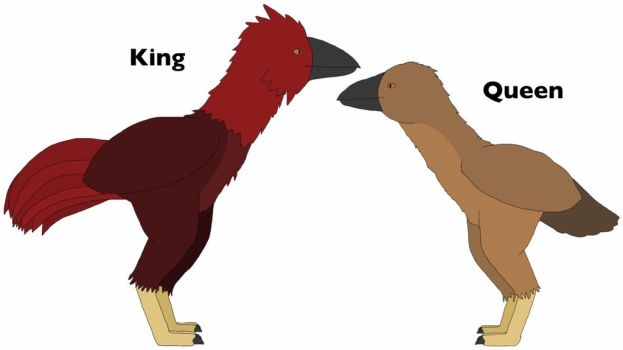 Kokinornis, the red bird that rules France - 1 by Ball-of-Sugar
