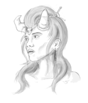 Horned Girl by Cursed-Midna