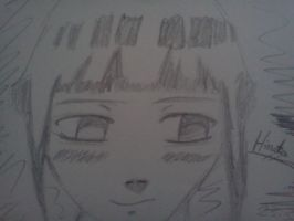 Quick Hinata Sketch by SgtJellyBeans