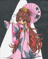 YamPuff Kimono Coloring Contest Entry by BevyArt