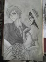 ichigo and rukia by TheManSkar