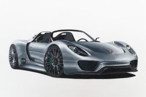 COMMISSION: Porsche 918 Spyder Concept ver. by Anths95