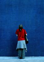 The Big Checkered Blue Wall by Zimarooski