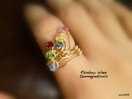 Rainbow Wave Ring by ienmaginations