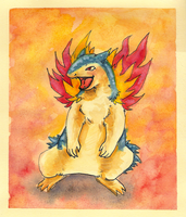 Vincent the Typhlosion by Eyeless1703