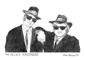 The Blues Brothers by jv7x