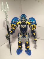 Bionicle MOC - Aquos, undersea warrior by xDPROkoks