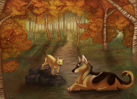 -Commission- Autumn Falls by Makirou