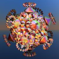 colourful bulb with crystals and roundings by Andrea1981G