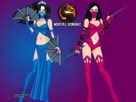 Kitana and Mileena: A tale of two sisters... by LadyRaw90