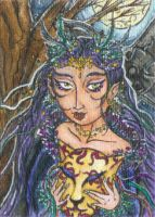Night Mystic (ACEO) by Keyshe54
