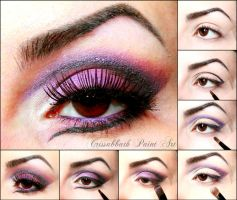 Purple Gradient Make Up by CrissabbathPaintArt