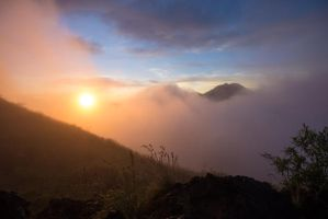 Indonesia Mountain Sunrise Stock by little-spacey
