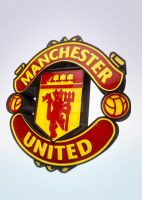 Manchester United logo 3D by wiliam571