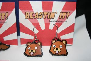 Pedobear Earrings by FruedianSlip