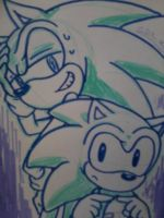 Sonic and Sonic by Dark0Light