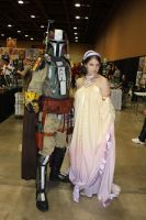 Padme and a Mandalorian by icantthinkofaname-09