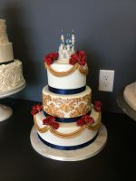 princess wedding cake by ninny85310